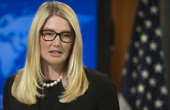 Deputy Spokesperson Marie Harf forcefully countered questions about a recent Wall Street Journal article by saying 'there has been no change in policy.' But which policy did she mean? (Photo credit should read Saul Loeb/AFP/Getty Images).
