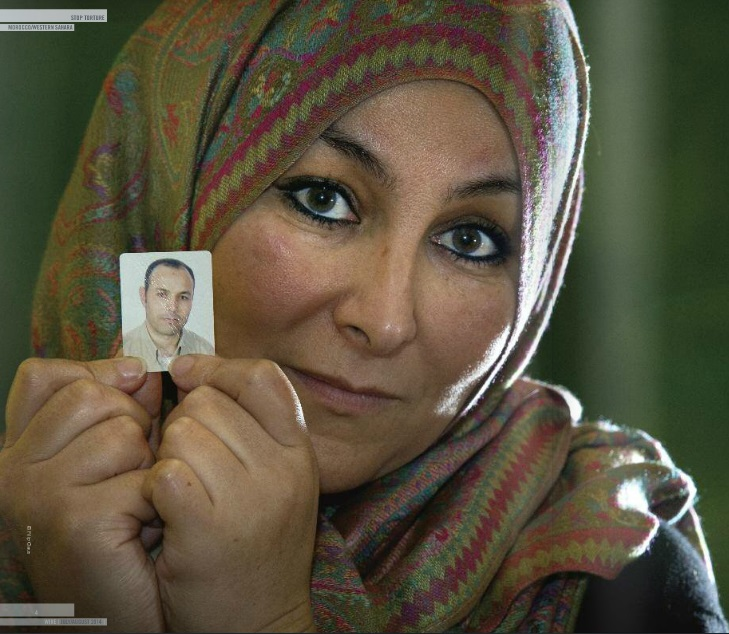 Farida Aarrass has spent the last 5 years campaigning for justice for her younger brother Ali Aarrass (Photo Credit: Filip Claus/Amnesty International).