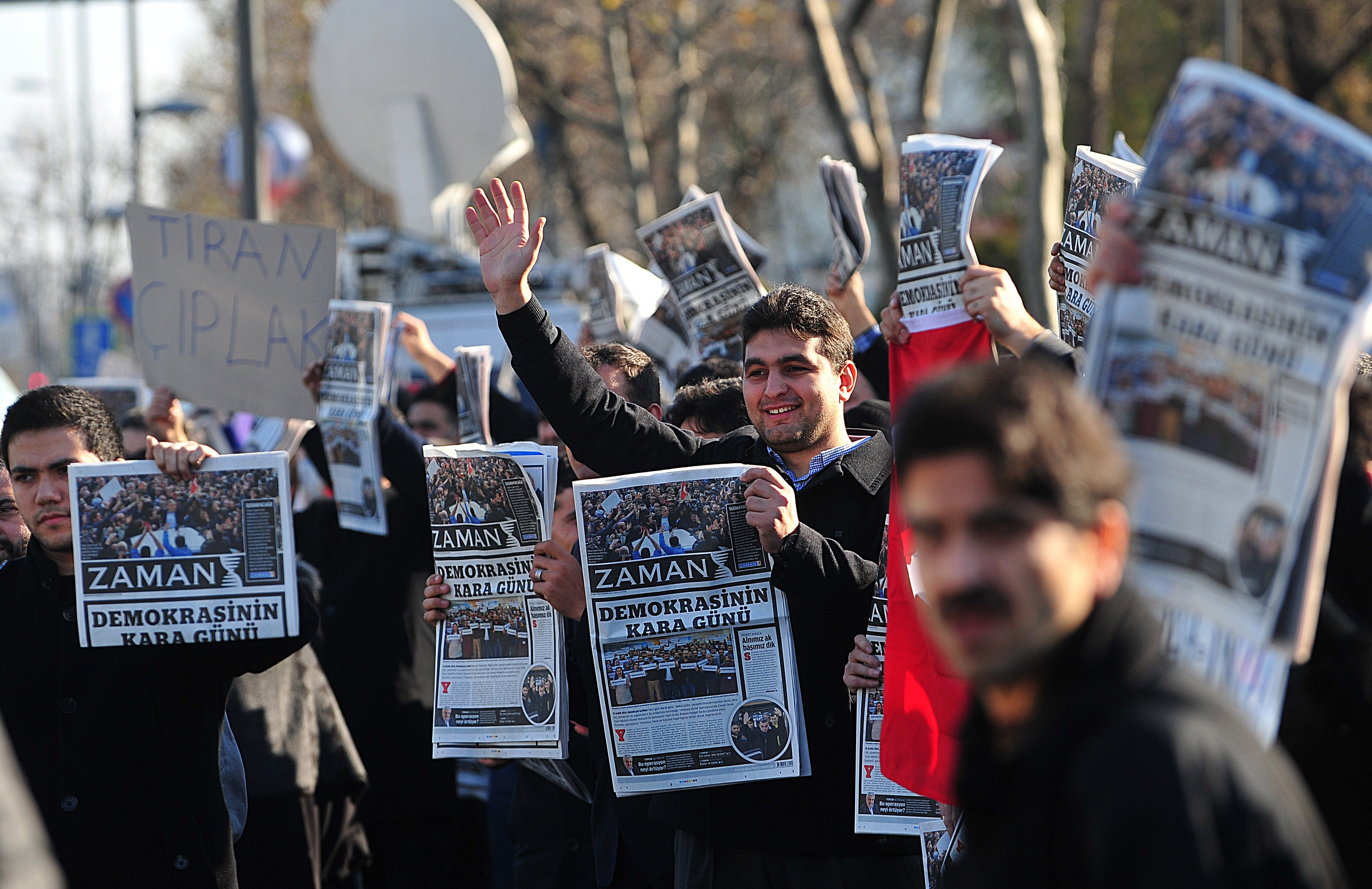 Over two dozen people were arrested in raids against media critical of Turkish president. (OZAN KOSE/AFP/Getty Images)