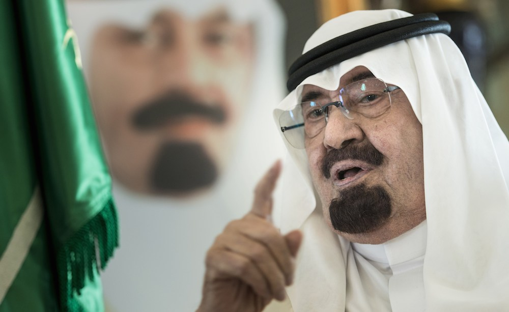 The late Saudi King Abdullah bin Abdulaziz al-Saud. ©BRENDAN SMIALOWSKI/AFP/Getty Images