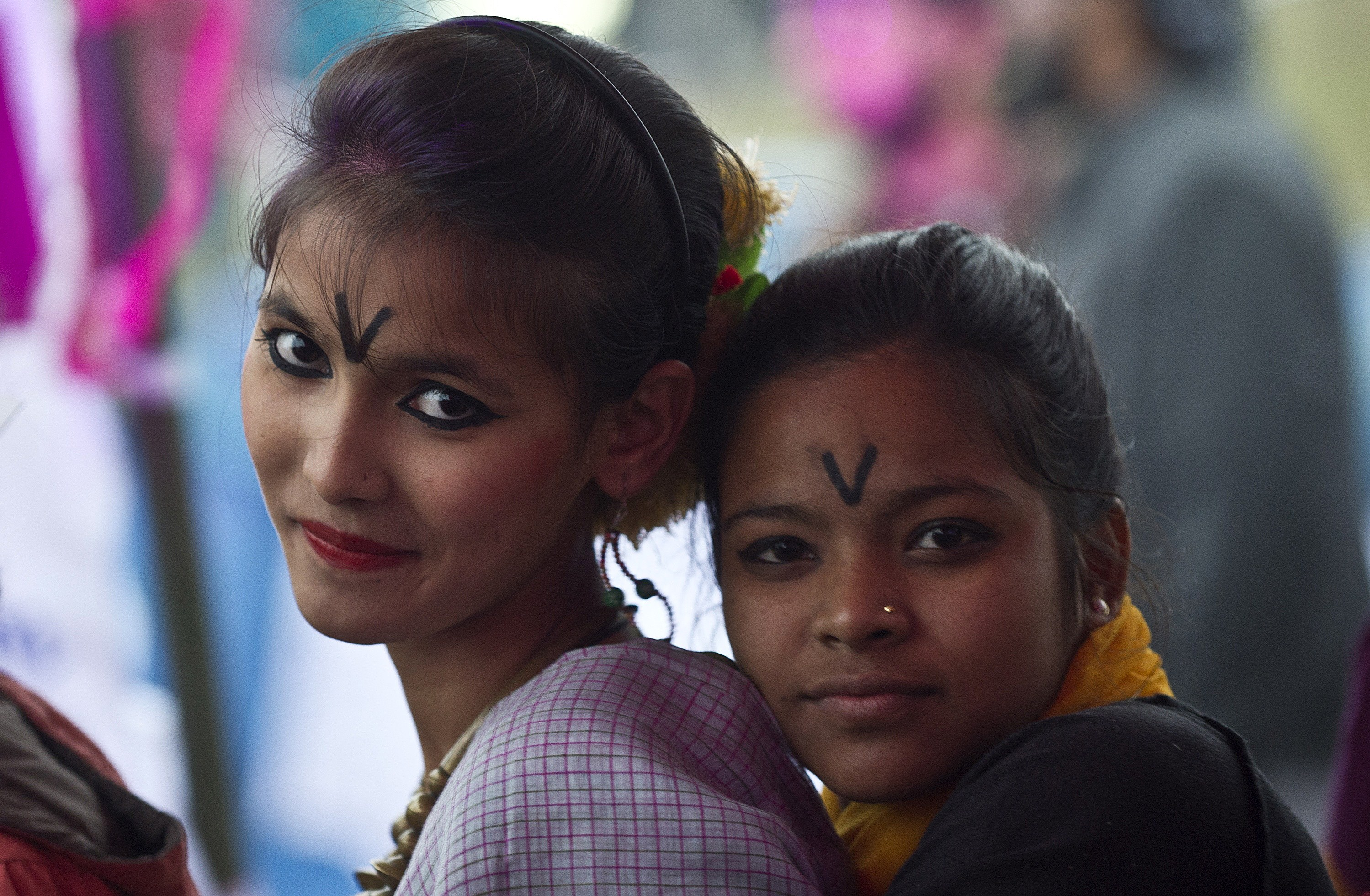 One Billion Rising event in New Delhi on February 14, 2014. The One Billion Rising campaign is a global call for an end to violence against women and girls and that survivors should receive justice. PRAKASH SINGH/AFP/Getty Images