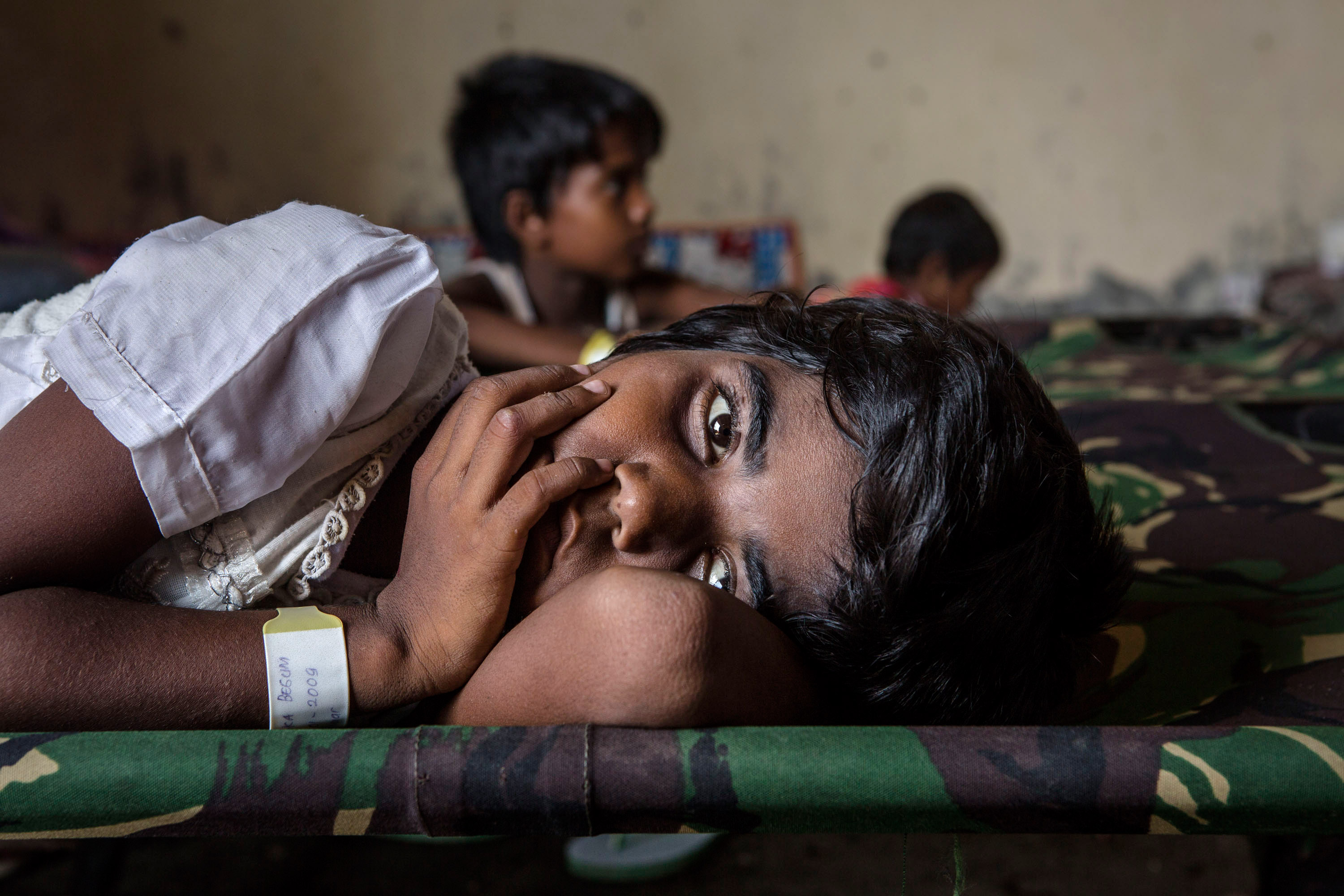 Hundreds of Myanmar's Rohingya refugees arrived in Indonesia on May 15, 2015. Thousands more are believed to still be stranded at sea reportedly with no country in the region willing to take them in. (Ulet Ifansasti/Getty Images)