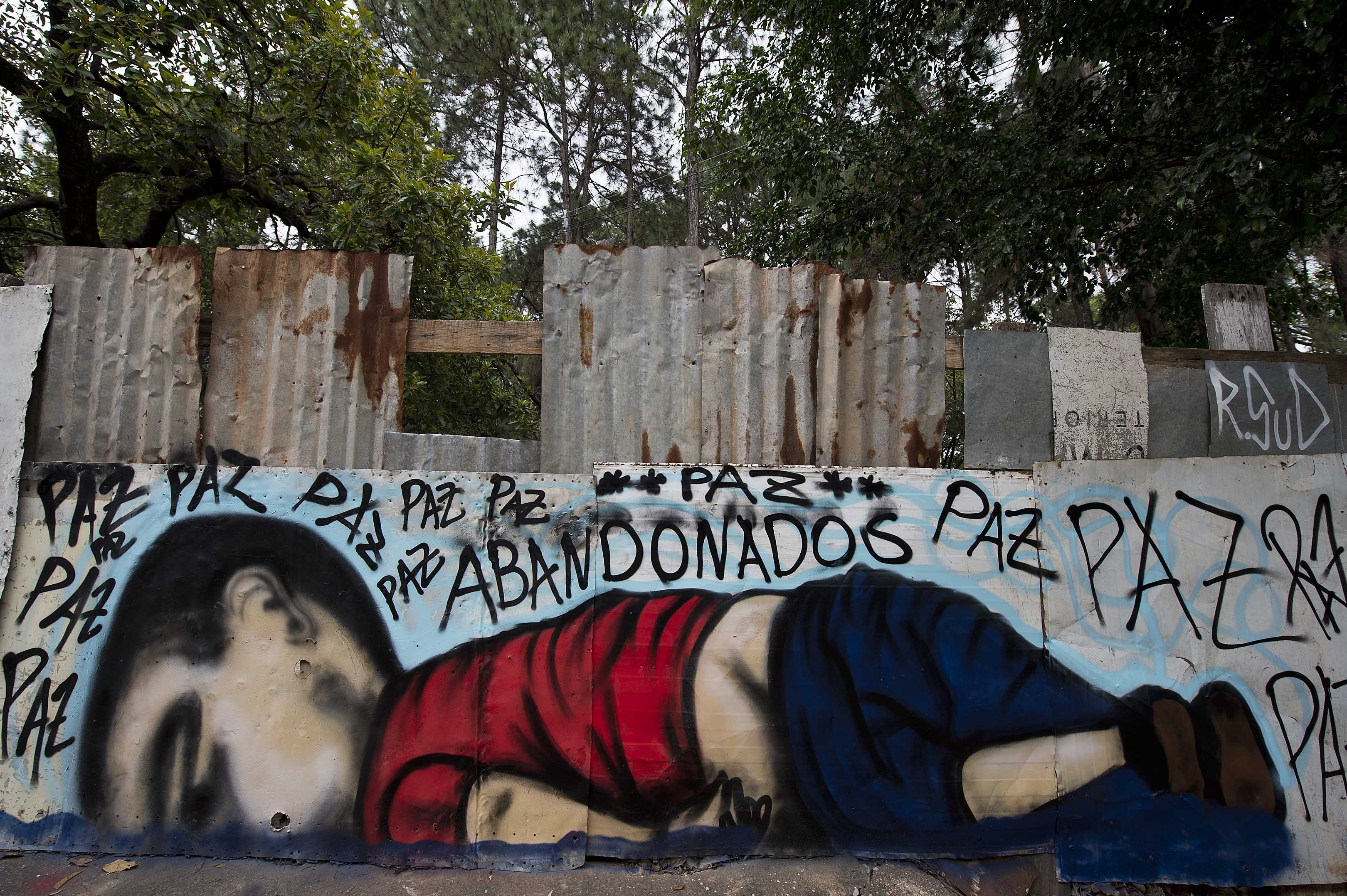 BRAZIL-SYRIA-MIGRANTS-GRAFFITI