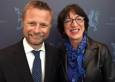 John Jeanette Solstad Remo (right). © Amnesty International/Ina Strøm