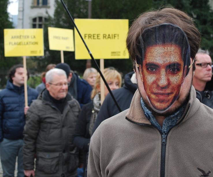 Demonstration Raif Badawi Berne, Switzerland