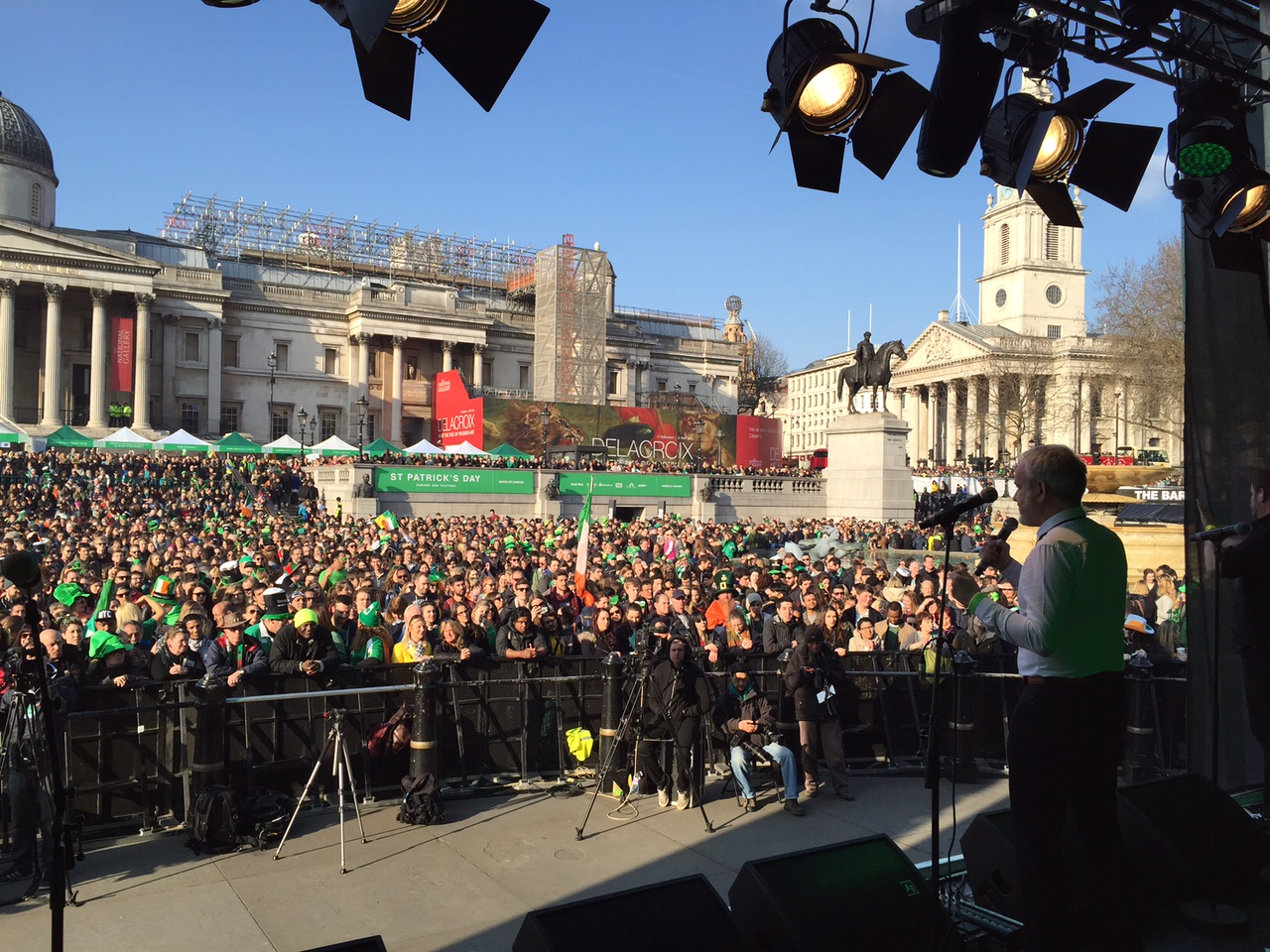 Colm O'Gorman, Executive Director of Amnesty International in Ireland, at St. Patricks Day Parade, London 13 March, 2016.