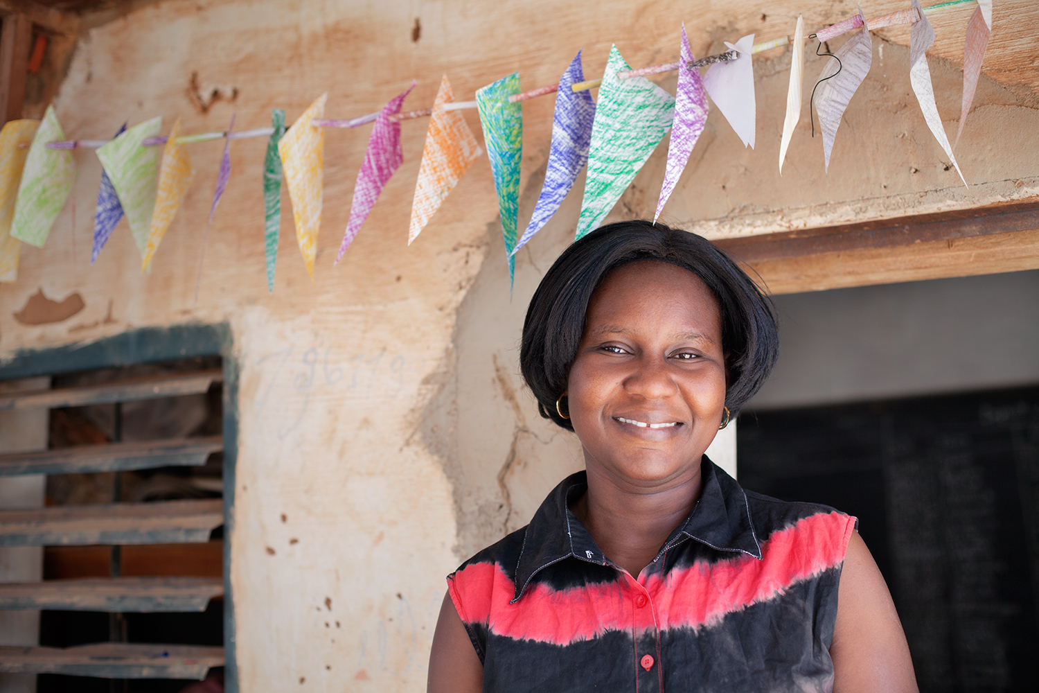 Martine Kabore works at the Pan Bila shelter for young girls who have experienced forced marriage, early pregnancy and sexual violence in Ouagadougou, Burkina Faso.