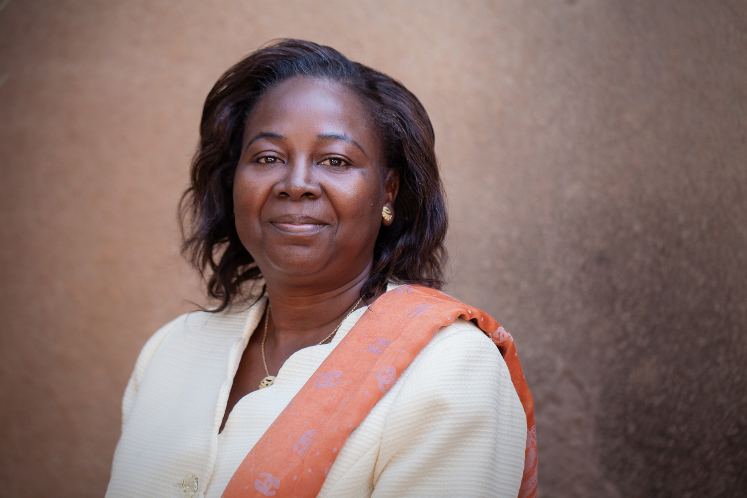 Hortence Lougué photographed by Leila Alaoui in Ouagadougou, Burkina Faso, on 12 January 2016, as part of the My Body My Rights campaign. Her organisation, Association d'appui et d'eveil PUGSADA, works on issues around gender-based violence, education and human rights. She works with young girls and women who have been forced into marriage, including at a very young age, and female genital mutilation. Her organisation currently has projects to support the education of girls who face early and forced marriage.