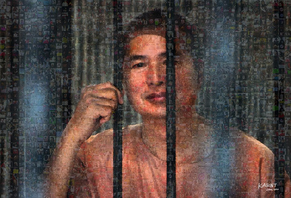 Somyot Prueksakasemsuk was sentenced in January 2013 to  ten years' imprisonment under Thailand's lese majeste legislation for publishing magazine articles deemed critical of the monarchy. While under Thai law he could be released on bail pending the appeal of his sentence, authorities have refused him bail since his arrest on 30 April 2011.