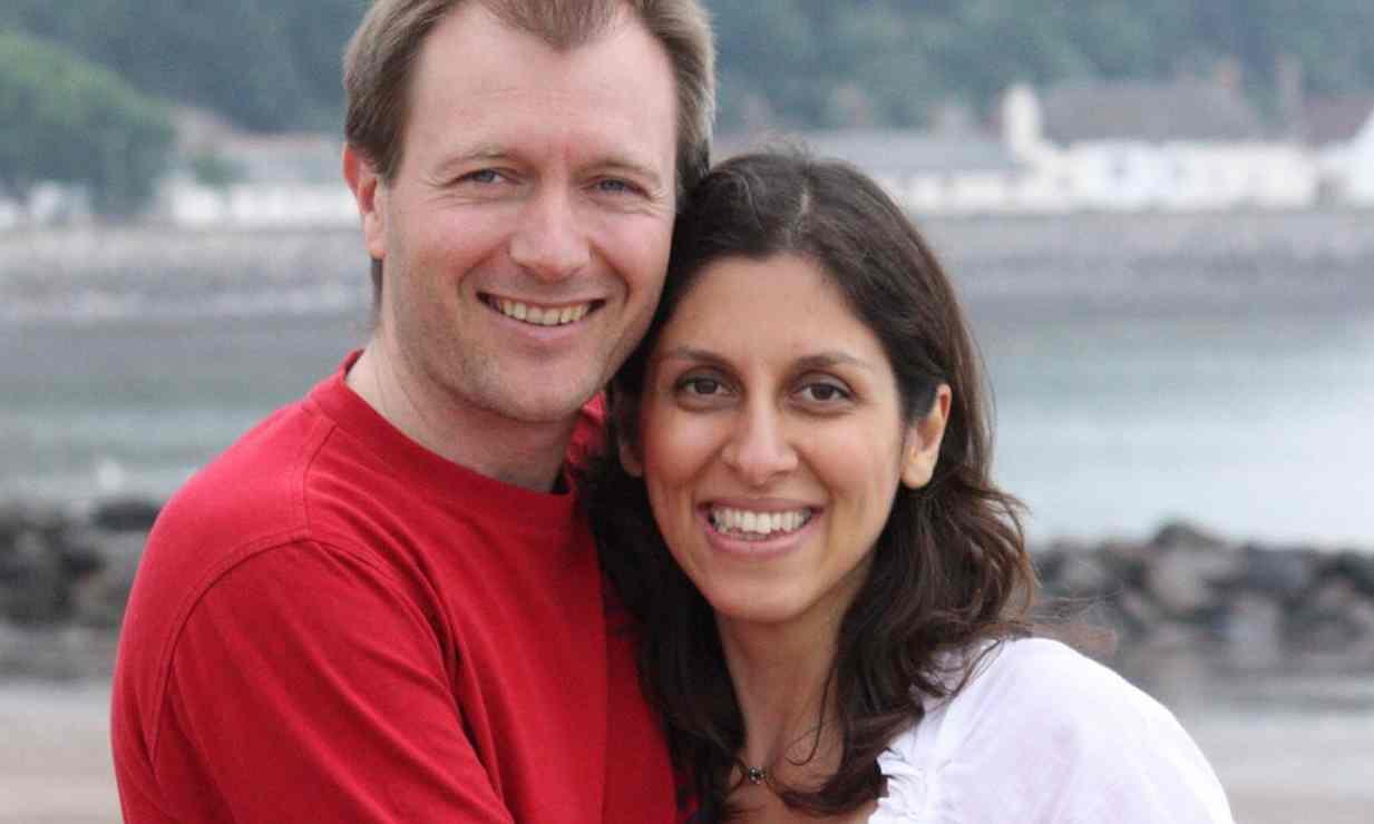 Nazanin Zaghari-Ratcliffe with her husband Richard Ratcliffe. Credit: PA