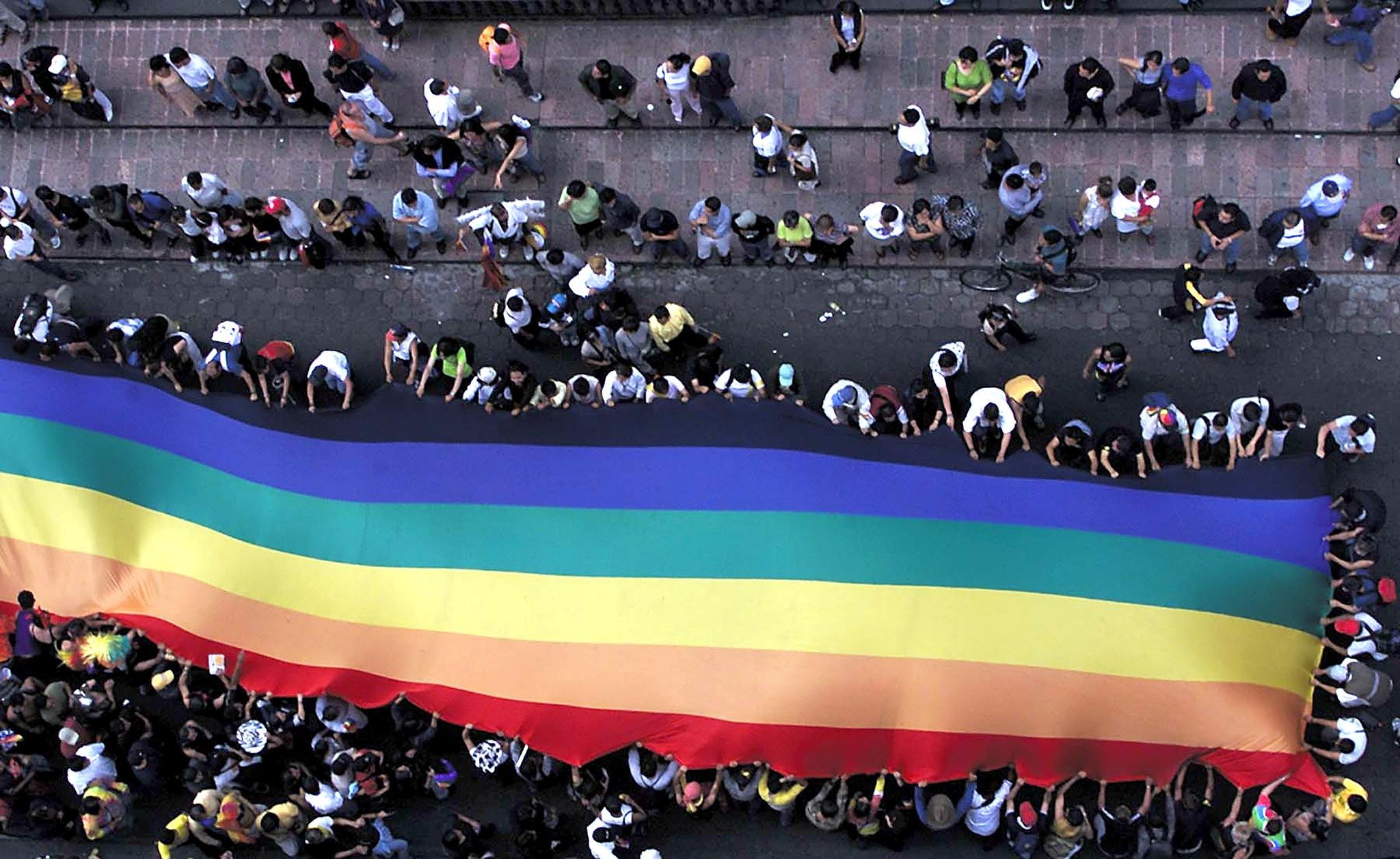 Pride march,  June 2001, Mexico City. JORGE UZON/AFP/Getty Images